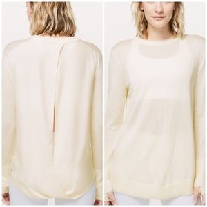 Lululemon Still At Ease Pullover Sweater Ivory